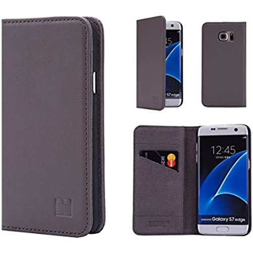 Samsung Galaxy S7 Edge Leather Wallet Case Designed by 32nd, Classic Real Leather Design With Card Slot - Elephant Sales