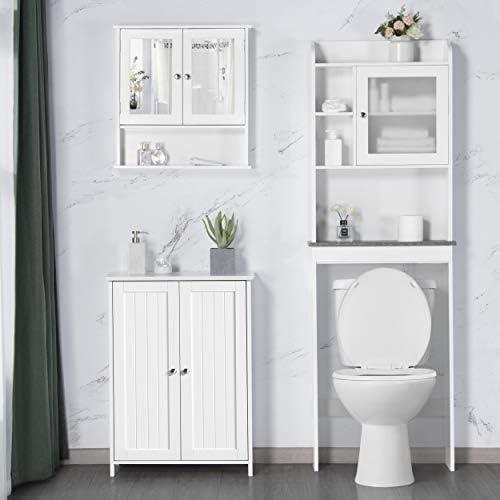 home, kitchen, furniture, bathroom furniture,  bathroom sets 10 on sale Yaheetech Bathroom Floor Storage Cabinet Space Saver Organizer in USA