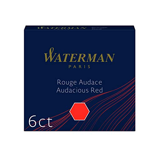 Pack of 6 Harmonious Green Waterman International Size Mini Ink Cartridge