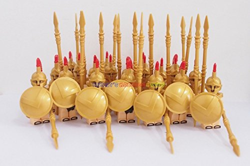 20 x Minifigures Spartan Warrior Soldier w Golden - Junior Report Gold