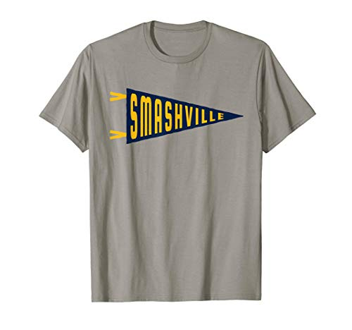 (Smashville pennant flag t-shirt | Nashville | Hockey fan)