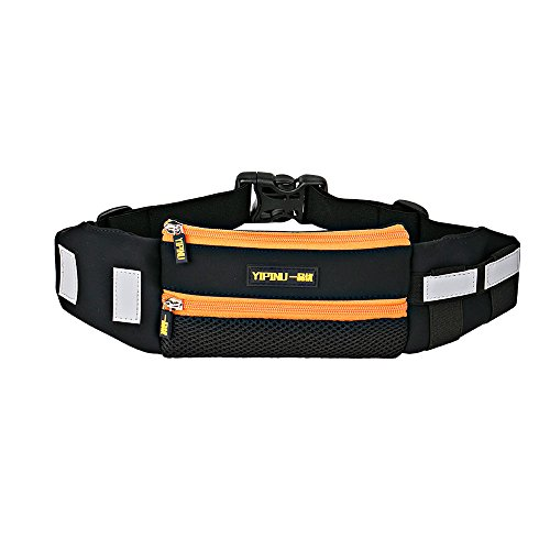 Price comparison product image Yipinu Running Belt Waiste Pack Fits All Iphones and Most Android Phones. (Orange)