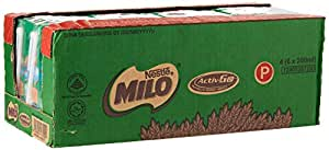 MILO UHT Chocolate Malt Packet Drink, 200ml (Pack of 24)
