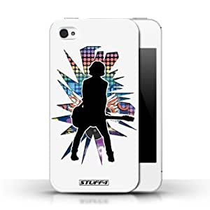 KOBALT? Protective Hard Back Phone Case / Cover for Ipod Touch 4   Emotion White Design   Rock Star Pose Collection