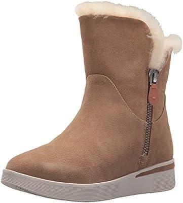 Gentle Souls Women's Hazel-Levitt Sneaker Bootie Double Zip Shearling Ankle Boot