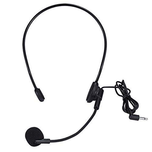 Headset Microphone, Flexible Wired Boom (Standard 3.5mm Connector Jack) for Mic Systems ()