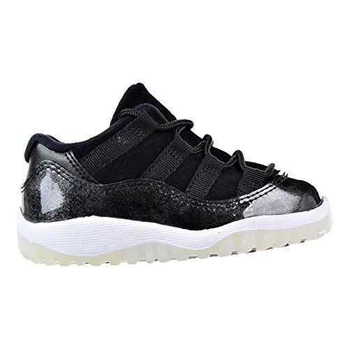 Jordan 11 Retro Low Toddler 505836-010 Black/White-Metallic Silver Black