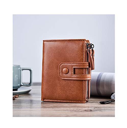 Men Wallet Brand Wallet Double Zipper&Hasp Design Small Wallet Male Short Card Holder Coin Purse Carteira ()