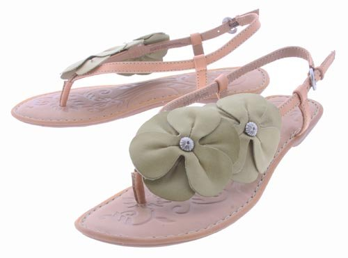 - Born Gladiolus' Slingback Sandals Womens 8 - Green