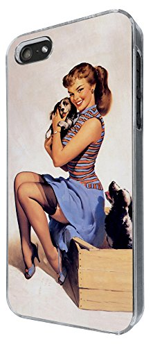 686 - Vintage Pin up Girl Sexy Design iphone 5 5S Coque Fashion Trend Case Coque Protection Cover plastique et métal