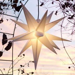 Mit Led Aussenstern Stern Outdoor Weiss Beleuchteter Stern 55 60 Cm Weihnachtsstern Leuchtstern Faltstern Mit Leuchtmittel Led Start Ndl Duh E14 C3 5w Amazon De Beleuchtung