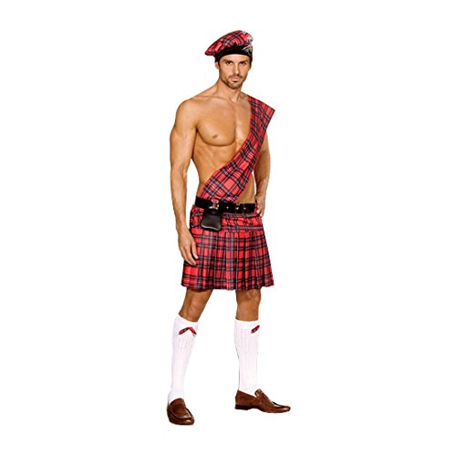 Sexy Men Halloween (Dreamgirl Men's Hot Scottie Dress, Red, Medium)