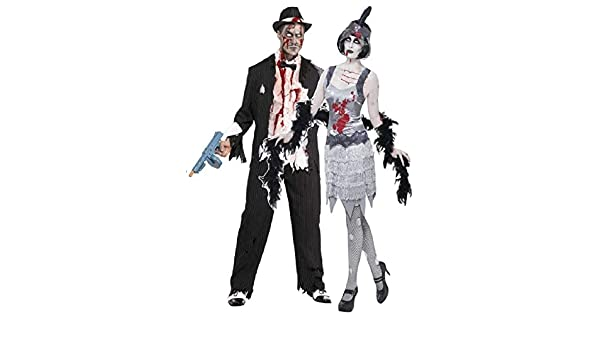 Par Hombre & Mujer Disfraz Zombie Gangster y Flapper Moll mobster ...