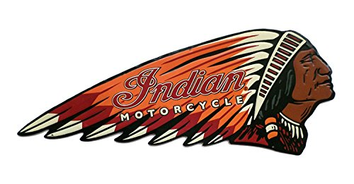 Indian Motorcycle Embossed Die Cut Tin Sign