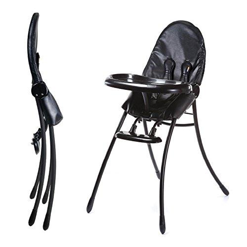 Nano Urban Highchair - Matt Black Frame w/ Midnight Black