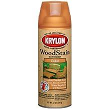 Krylon K03601000 Exterior Semi-Transparent Wood Stain, Cedar, 12 Ounce