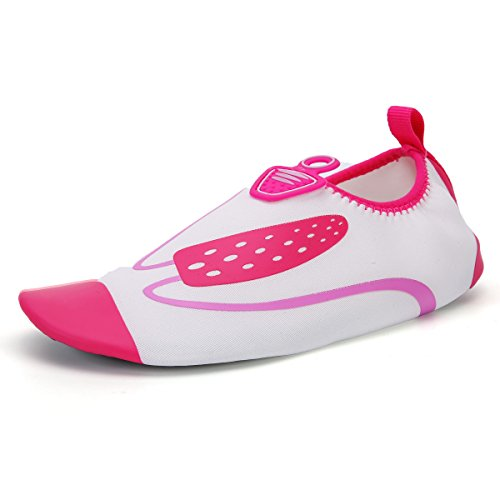 calzado piel roja light de natación playa zapatos Ultra rosa cuidado esquí acuático de zapatos Lucdespo Anti Skid transpirables la S60 aEH46q6
