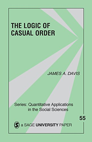 The Logic Of Causal Order (Quantitative Applications in...