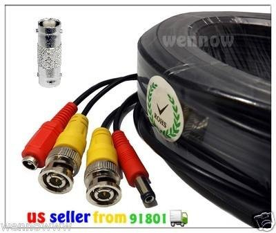 WennoW® Lot 5 Black 165ft Power & Video Cable for Security CCTV use /Zmodo/ Q-see