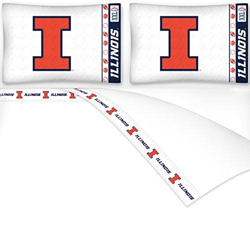 NCAA Illinois Fighting Illini Micro Fiber Sheet Set (Full)