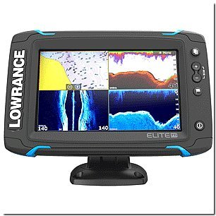Lowrance Elite-7 Ti Touch Combo - Med-High-455-800 HDI Transom Mount w-Navionics+ Chart Fish Finders And Other Electronics LOWRANCE