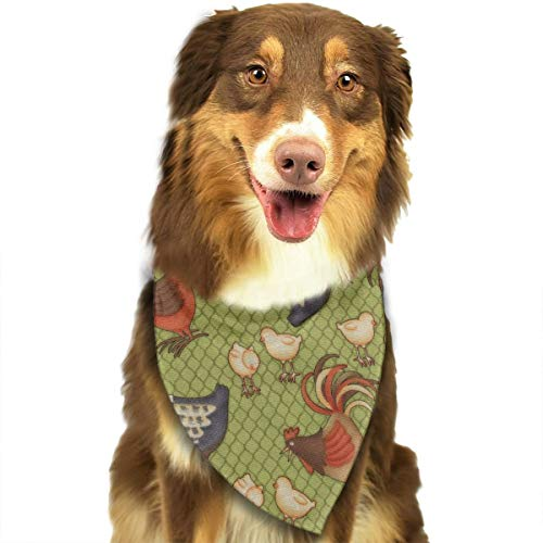 Pet Scarf Dog Bandana Bibs Triangle Head Scarfs Colorful Chicken Accessories for Cats Baby Puppy ()