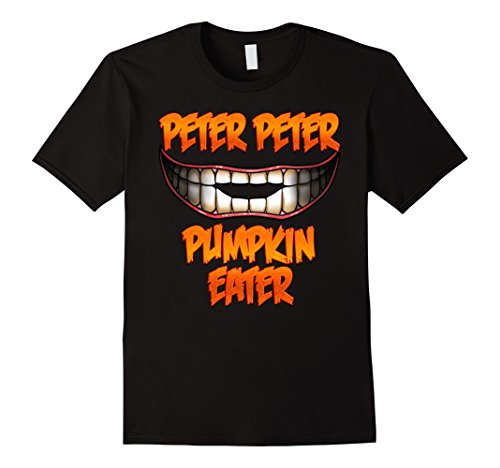 Good Couple Halloween Costumes (Mens Peter Peter Pumpkin Eater Halloween Couples Costume T Shirt Large Black)