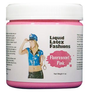 [Black Light Fluorescent Pink Liquid Latex Body Paint in 4 Ounces] (Body Paint Costumes For Halloween)
