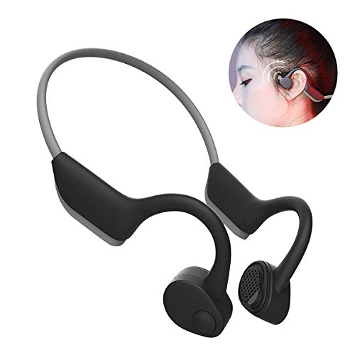 ALOVA Bone Conduction Headphones Wireless Bluetooth 5.0 J20 Headset Open Ear Sports Safe Earphones Lightweight Earbuds for Running Cycling Driving