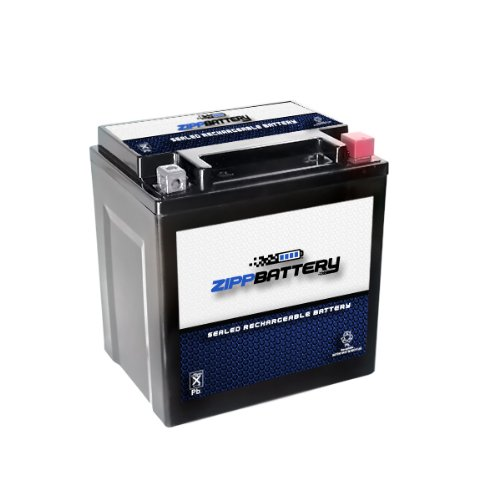 Chrome Battery 30L-BS - High Performance Power Sports Battery, AGM, Factory Sealed (Ytx20l Bs High Performance Power Sports Battery)