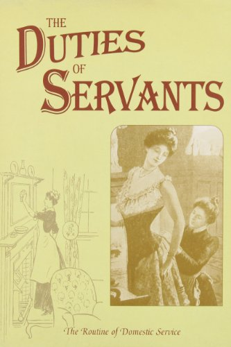 Beech Entertainment Center - The Duties of Servants (Above & below stairs)