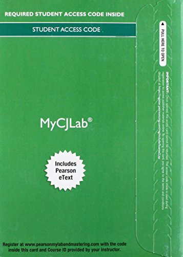 ce with Pearson eText -- Access Card -- for Criminal Investigation (Justice Series) (My Cj Lab) ()