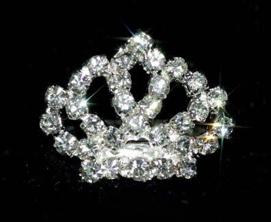 Rhinestone Crown Adjustable Ring - 7