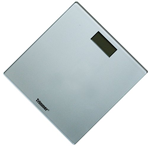 Trimmer Super Thin Digital Bathroom Bodyweight Weighing Scale with Non-Skid No Slip Surface for Home, Gym, Fitness, Silver by Trimmer