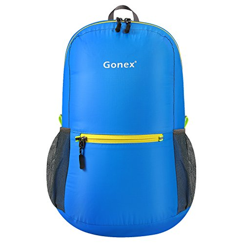 Gonex Ultra Lightweight Packable Backpack Hiking Daypack Handy Foldable Camping Outdoor Travel Cycling Backpacking(Blue)