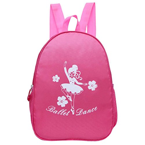 George Jimmy Kids Dance Bags Travel Backpack School Bags Girls Backpacks Dancing Bag Rose Red by George Jimmy