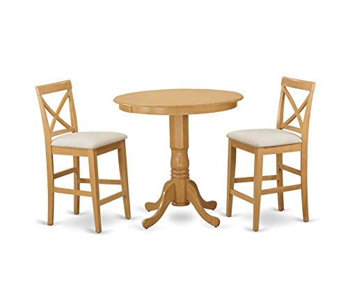 Deluxe Premium Collection 3 Piece Pub Table and 2 Chairs Set Decor Comfy Living Furniture