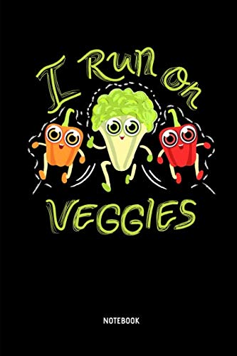 I Run On Veggies - Notebook: Half Marathon Journal / Notebook (Dot Grid). Funny Half Marathon Training Accessories & Novelty Marathon Runner & Marathoner Finisher Gift Idea.]()