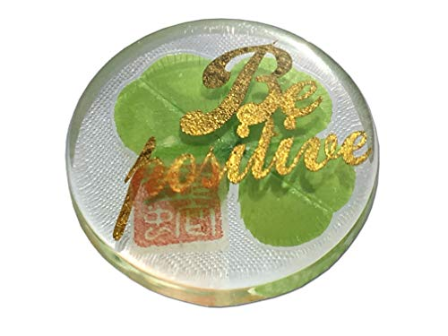 Good Halloween Characters (KIN-HEBI Real Four Leaf Clover Good Luck Pocket Token, Preserved, Including Cutout Character