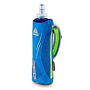LERMX Quick Grip Chill 17 oz Handheld soft Flask Water Bottle Hydration Pack (17 oz Blue)