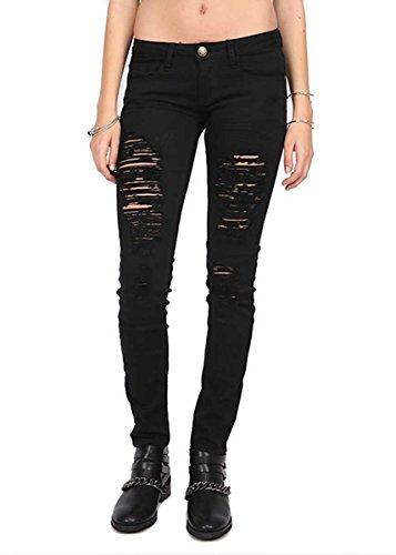 Machine Shopglamla Womens Juniors Destroyed Skinny Jeans Jeans
