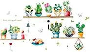 LIOOBO Nordic Green Plant Succulent Plants Fashion Wall Sticker Wall Decals