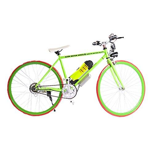 ELECTRIC Fixie Bike 350W 33MPH Alien Motor Wheels TM (GREEN/ORANGE/GREEN/YELLOW)