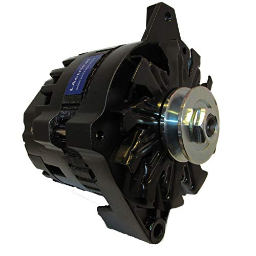 LActrical NEW BLACK HIGH OUTPUT ALTERNATOR FITS CHEVY GM 220 AMP 1-WIRE 65-85 ()