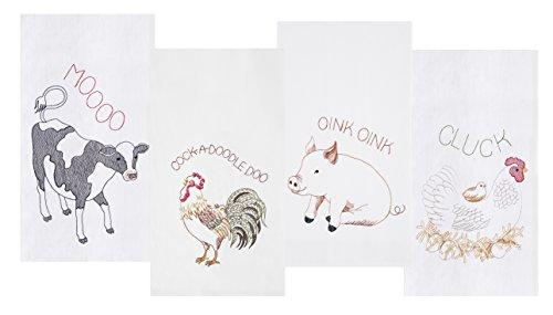 Farm Animals Kitchen Towel Set of 4