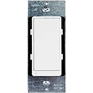 Add-On Z-Wave Switch by Enerwave | 3-Way Z-Wave Light Switch for Home Automation System Light/Fan Control, use with Z-Wave Dimmer and Z-Wave Wall Switch, ZW3K-N, Interchangeble Face Cover
