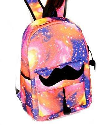 Rucksack Reise Galaxy Luckshop2012 Muster rosa Freizeit Schultasche Unisex Taschen qtvfIBw