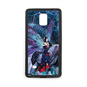 Samsung Galaxy Note 4 Cell Phone Case Black Ride of the Yokai Fairy and Dragon JNR2209982