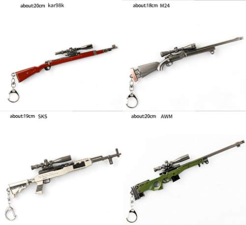 Amazon Com Keychains Key Chain Pubg Awm Akm M K Gun Weapon Model Pendant Cm G Clothing