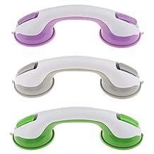 MagiDeal 3pcs 10'' Super Suction Bath Tub Helping Handle Safety Cup Grab Bar Handrail Armrest Grip For Bathroom Shower